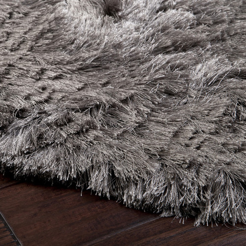 2' x 3' Dunn Pewter Gray Shag Area Throw Rug - IMAGE 1