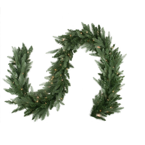 "9' x 12"" Pre-Lit Washington Frasier Fir Artificial Christmas Garland - Clear Dura-Lit Lights - IMAGE 1"