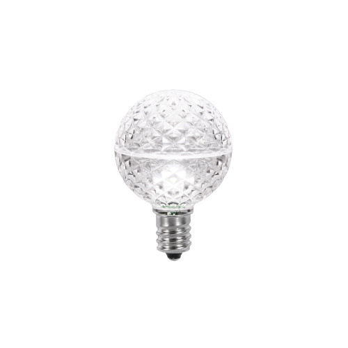 Club Pack of 25 Pure White LED G40 Christmas Replacement Bulbs - IMAGE 1