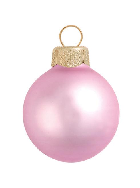 "12ct Pink Glass Matte Finish Christmas Ball Ornaments 2.75"" (70mm) - IMAGE 1"