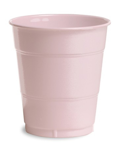 Club Pack of 240 Classic Pink Disposable Drinking Party Tumbler Cups 12 oz. - IMAGE 1
