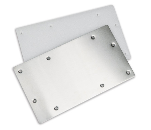 """14"""" Silver Color HydroTools Swimming Pool Wide Mouth Wall Skimmer Winterizing Plate - IMAGE 1"""