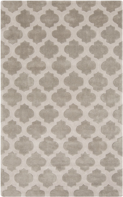 9' x 13' Taupe Brown and Gray Quatrefoil Rectangular Area Throw Rug - IMAGE 1