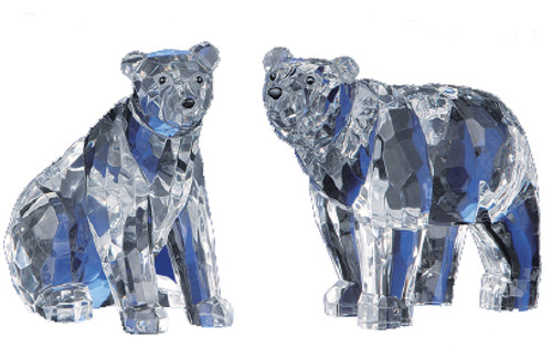 """Pack of 4 Clear Icy Crystal Decorative Bears Figurines 5"""" - IMAGE 1"""