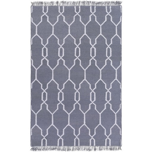8' x 11' Moroccan Stone Gray and White Hand Woven Area Throw Rug - IMAGE 1