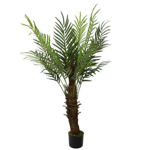 3.75' Potted Phoenix Palm Brown and Green Artificial Christmas Tree - Unlit - IMAGE 1