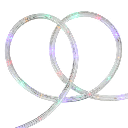Multi-Color LED Commercial Grade Outdoor Christmas Rope Lights on a Spool - 288 ft Clear Tube - IMAGE 1