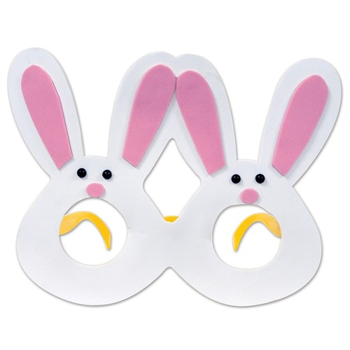 Pack of 12 Pink and White Bunny Eye Glasses Easter Costume Accessories - IMAGE 1