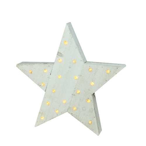 "15.5"" Blue LED Lighted Country Rustic Star Christmas Decor - IMAGE 1"