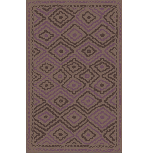 3.25' x 5.25' Brown Rectangular Hand-Woven Area Throw Rug - IMAGE 1
