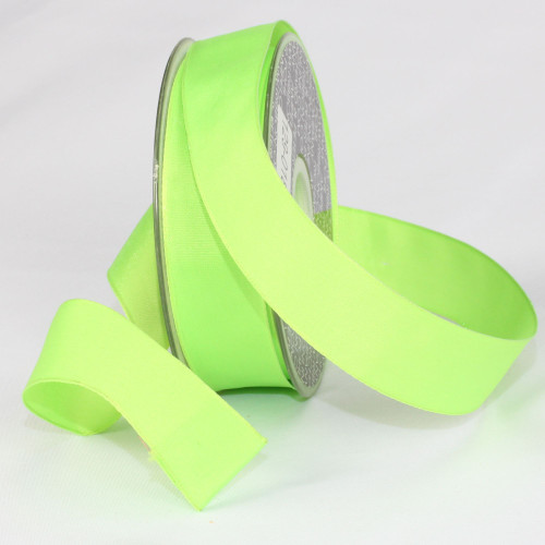 """Lime Green Solid Wired Craft Ribbon 1"""" x 54 Yards - IMAGE 1"""