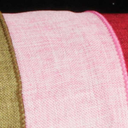 """Blush Pink and Bubblegum Pink Solid Wired Craft Ribbon 2.5"""" x 40 Yards - IMAGE 1"""