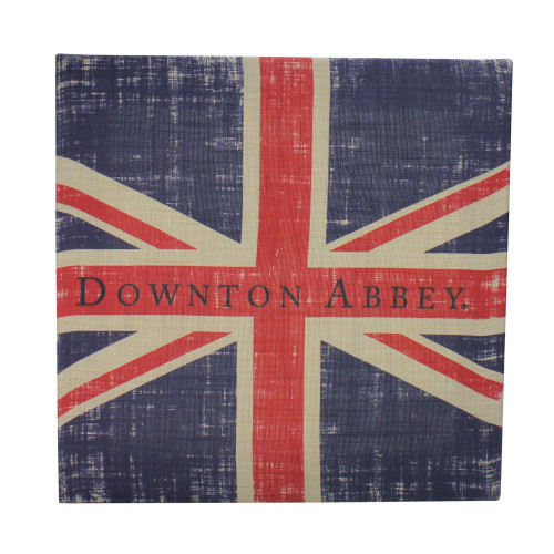 "14.5"" Downton Abbey British Union Jack Natural Beige Decorative Hanging Wall Art - IMAGE 1"