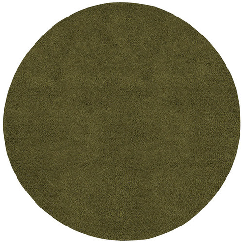 10' Hunter Green Hand-Woven Round Area Throw Rug - IMAGE 1