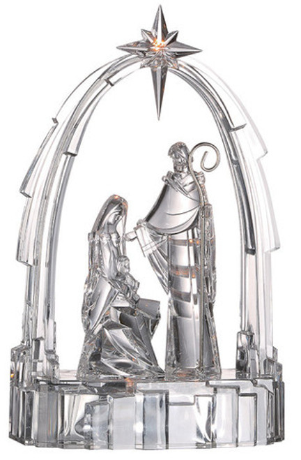 """Set of 4 Clear Decorative LED Lighted Religious Christmas Nativity Figurines 7.5"""" - IMAGE 1"""