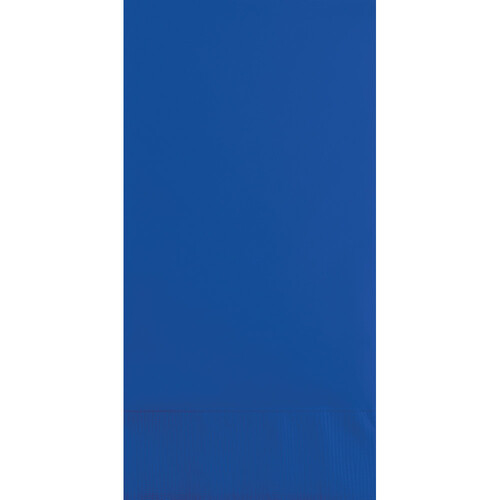 """Club Pack of 600 Cobalt Blue Solid 2-Ply Disposable Dinner Napkins 8"""" - IMAGE 1"""