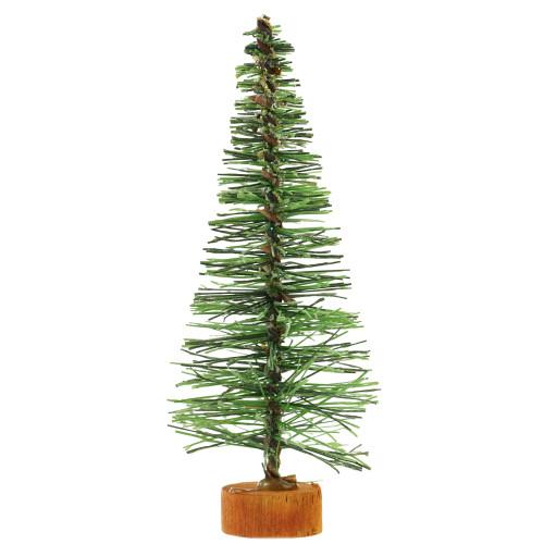 "5"" Green Bottle Brush Artificial Mini Pine Christmas Tree - Unlit - IMAGE 1"