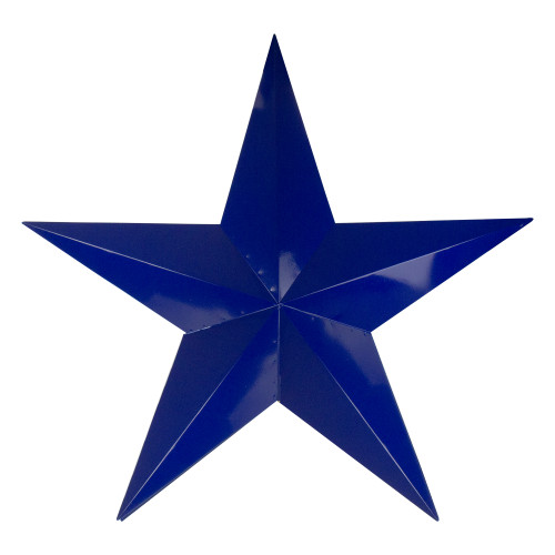 """36"""" Navy Blue Country Rustic Star Outdoor Patio Wall Decor - IMAGE 1"""