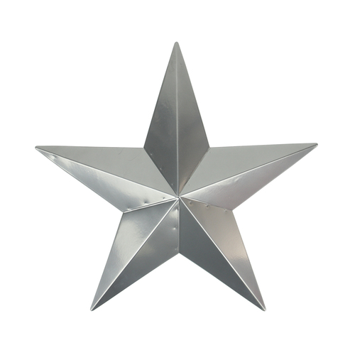 """36"""" Silver Country Rustic Star Outdoor Patio Wall Decor - IMAGE 1"""