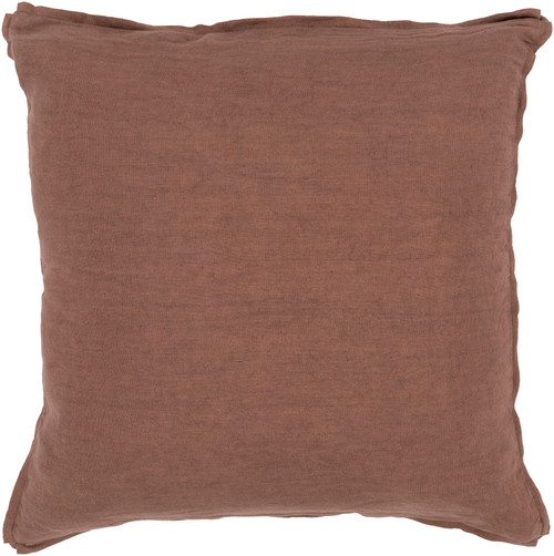 """20"""" Brown Contemporary Solid Square Throw Pillow - Down Filler - IMAGE 1"""