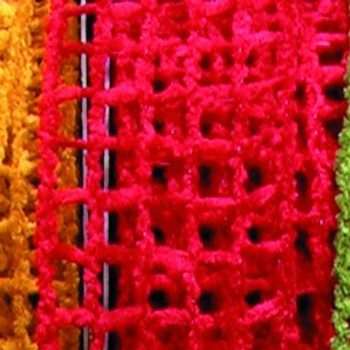 """Classic Red Netting Wired Craft Ribbon 2.5"""" x 20 Yards - IMAGE 1"""