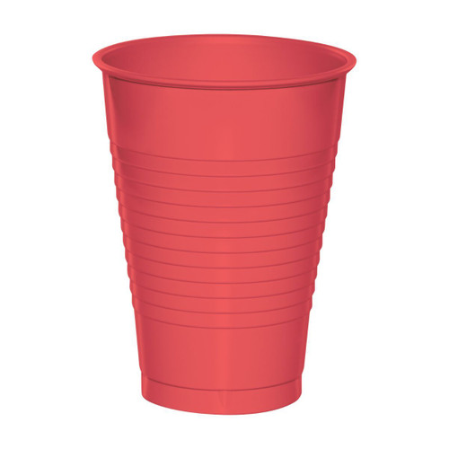 Club Pack of 240 Coral Pink Disposable Drinking Party Cups 12 oz. - IMAGE 1