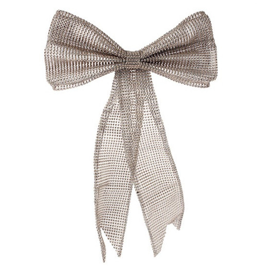 """19"""" Bronze Commercial Sized Mesh Bow Christmas Ornament - IMAGE 1"""