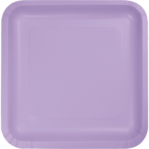 """Pack of 180 Luscious Lavender Square Paper Party Dinner Plates 9"""" - IMAGE 1"""