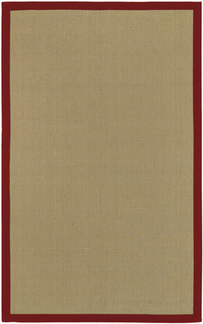 9' x 13' Modern Simple Beige and Red Hand Woven Rectangular Area Throw Rug - IMAGE 1