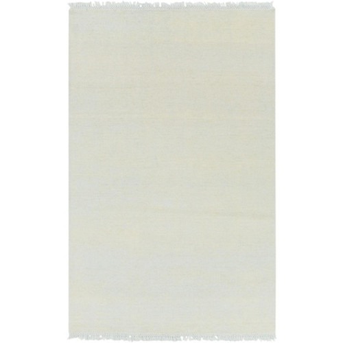5' x 7.5' Yellow and Sky Blue Hand Knotted Rectangular Area Throw Rug - IMAGE 1