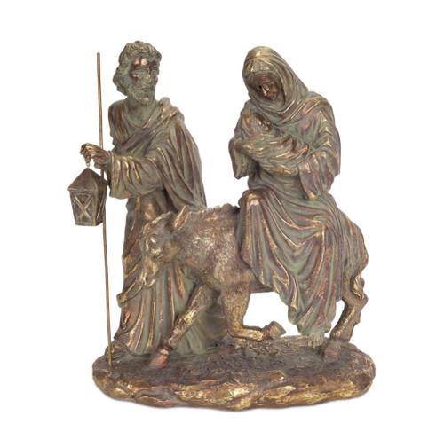 "12"" Bronze Holy Family Nativity Scene Christmas Tabletop Decor - IMAGE 1"