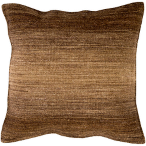 "22"" Ombre Ambience Yellow Brown, Chocolate and Coffee Brown Decorative Throw Pillow - IMAGE 1"