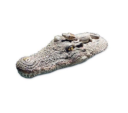 """20.5"""" Crocodile Head Floating Pool, Spa or Patio Decorative Reptile Figure - IMAGE 1"""