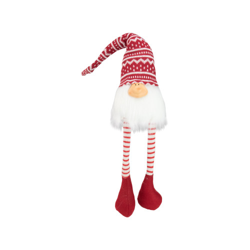 "29"" Red and White Smiling Gnome Christmas Decoration - IMAGE 1"