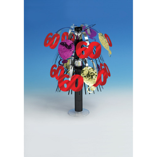 """Club Pack of 12 Red and Purple 60th Birthday Mini Party Centerpieces 10.5"""" - IMAGE 1"""