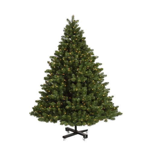 15' Pre-Lit Grand Teton Artificial Christmas Tree - Warm Clear LED Lights - IMAGE 1