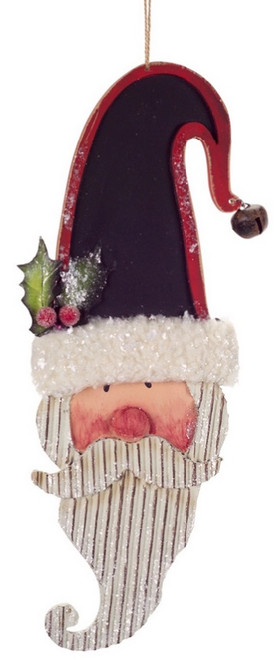 """13"""" White and Red Santa Claus with Chalkboard Hat Hanging Christmas Ornament - IMAGE 1"""