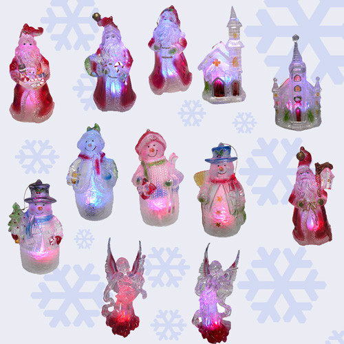 Set of 12 Lighted LED Color Changing Christmas Ornaments - IMAGE 1