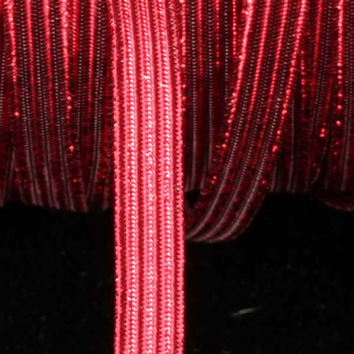 "Red Contemporary Braided Elastic Trim 0.25"" x 108 Yards - IMAGE 1"