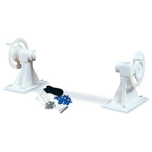 "21"" White In-Ground Swimming Pool Solar Blanket Reel System - IMAGE 1"