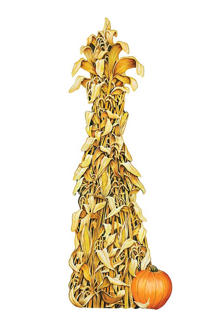 Club Pack of 12 Double Sided Fall Thanksgiving Jointed Cornshock Decoration 5' - IMAGE 1
