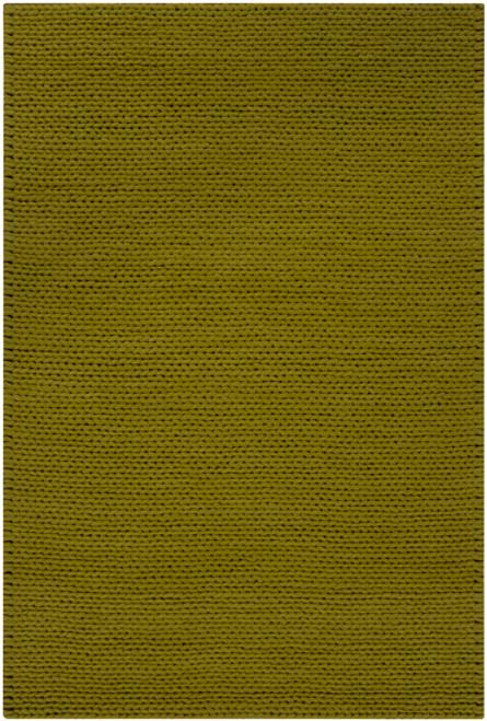 8' x 10' Solid Fern Green Hand Woven New Zealand Wool Area Throw Rug - IMAGE 1