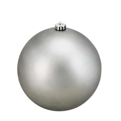 "Pewter Gray Shatterproof Matte Christmas Ball Ornament 8"" (200mm) - IMAGE 1"