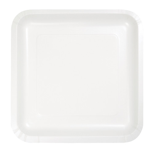 """Pack of 180 White Premium Square Paper Party Lunch Plates 7"""" - IMAGE 1"""