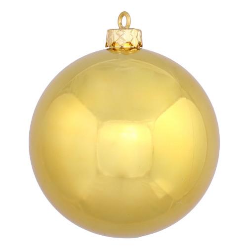 "Shiny Gold Shatterproof Christmas Ball Ornament 2.75"" (70mm) - IMAGE 1"