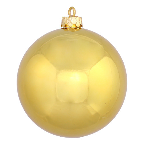 "Shiny Gold Shatterproof Christmas Ball Ornament 2.75"" (70mm) - IMAGE 1"