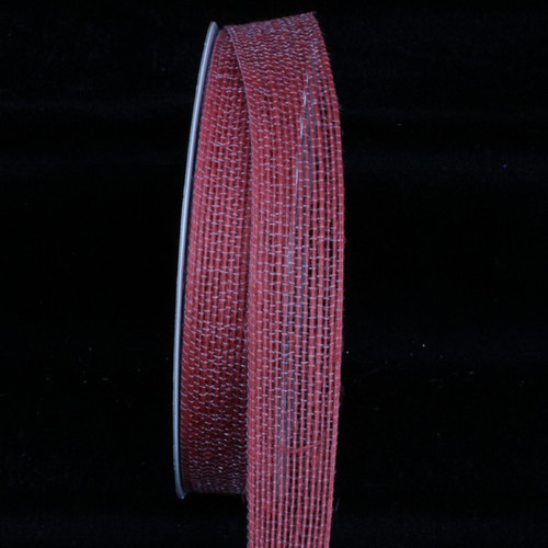 """Terracotta Red Woven Edge Craft Ribbon 1"""" x 108 Yards - IMAGE 1"""