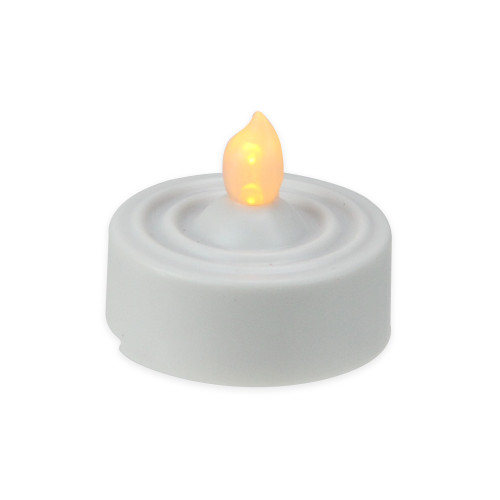 Set of 4 White LED Lighted Flickering Flame Tea Light Candles - IMAGE 1
