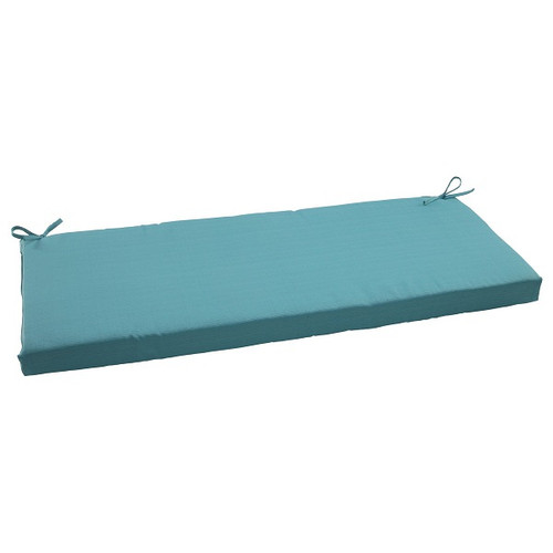 "45"" Aquatic Turquoise Outdoor Patio Bench Cushion - IMAGE 1"