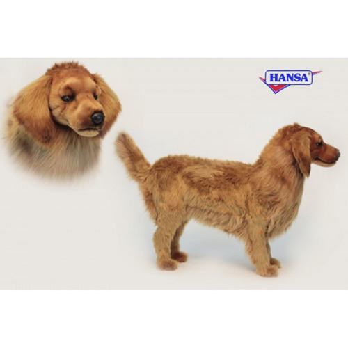 "Life-like Handcrafted Extra Soft Plush Life Size Golden Retriever Stool Stuffed Animal 35"" - IMAGE 1"